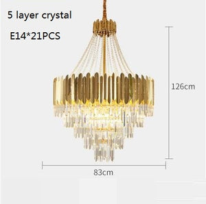 Modern Large Crystal Luxury Chandelier