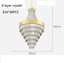 Load image into Gallery viewer, Modern Large Crystal Luxury Chandelier