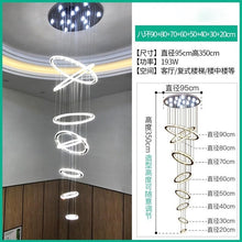 Load image into Gallery viewer, Modern Luxury multi-Rings Crystal Chandelier