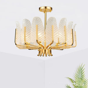 Postmodern LED ceiling Glass luxury chandelier hanging