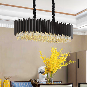 Luxury Modern Rectangle Crystal Chandelier