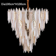 Load image into Gallery viewer, Nordic crystal chandelier modern colored glazed living room chandelier
