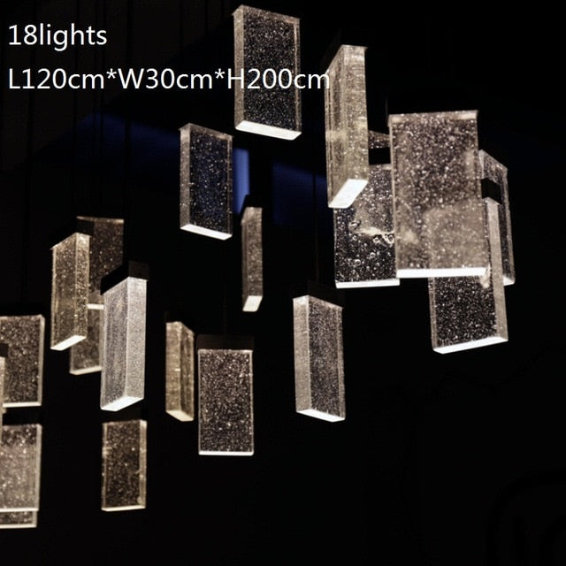 New LED crystal chandelier