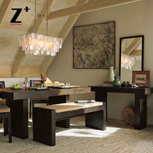 Load image into Gallery viewer, LED Chandelier Capiz Shell Rectangle Modern  Lamp Loft Dinning Room