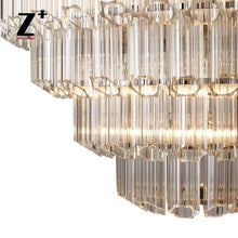 "Load image into Gallery viewer, Replica Item Vittoria Chandelier 32"" Hexagonal Cylinders K9 Crystal Glass Chandelier"