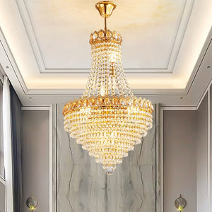American Modern Luxury Golden Crystal Chandeliers