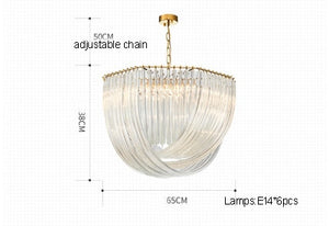 Modern Luxury Crystal Glass Pendant Lights