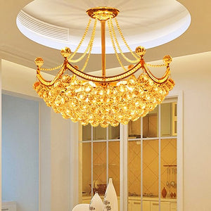 American Style Luxury Modern Golden Crystal Chandeliers