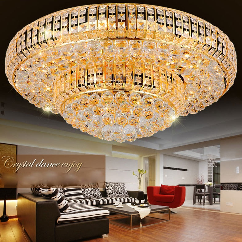 Luxury Modern Gold Crystal Ceiling Chandeliers