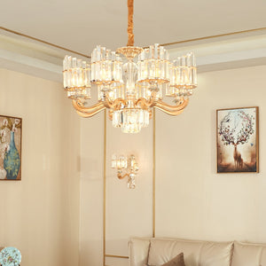 Modern Gold Crystal Pendant Chandeliers