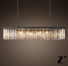 Load image into Gallery viewer, Contemporary Vintage Rectangular Crystal Chandelier