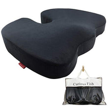 Carica l'immagine nel visualizzatore di Gallery, Memory Foam Seat Cushion eye mask Soft Portable Ergonomic Contoured Seat Chair Pad for Car Truck Home Office Computer Wheelchair Relieve