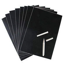 Load image into Gallery viewer, Unframed Blackboard chalkboard Sticker Black Adhesive Flexible Wall Sticker Removable Writing Erasing A4 8PCS Office Notice Memo Tabletop Menu Chalk