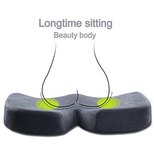 Memory Foam Seat Cushion eye mask Soft Portable Ergonomic Contoured Seat Chair Pad for Car Truck Home Office Computer Wheelchair Relieve