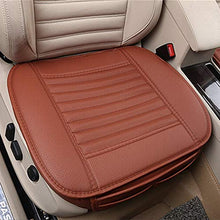 Load image into Gallery viewer, Universal Car Inner Covers Seat pad PU Leather Bambu charcoal Front Seat Natural Breathable Comfort Seat Health protection Foldable Cozy Mat Elegance Upholstery Edge