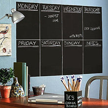 Carica l'immagine nel visualizzatore di Gallery, Unframed Blackboard chalkboard Sticker Black Adhesive Flexible Wall Sticker Removable Writing Erasing A4 8PCS Office Notice Memo Tabletop Menu Chalk