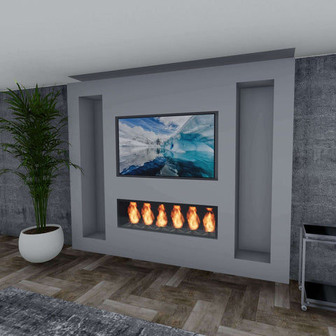 Cinewall Optie 7 Tv + 3 Nissen + LED