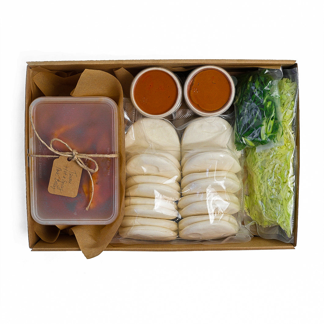 Tsuru Bao Kit – Ready to Cook (Hot & Spicy Pork Belly)