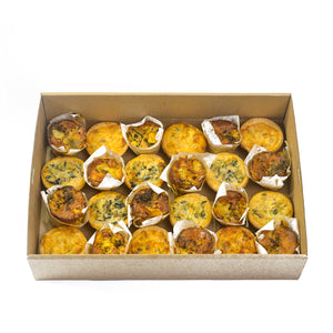 Assorted Gourmet Mini Quiches & Frittatas