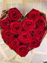 Load image into Gallery viewer, 12 Everlasting Red Roses in Heart-Shaped Box