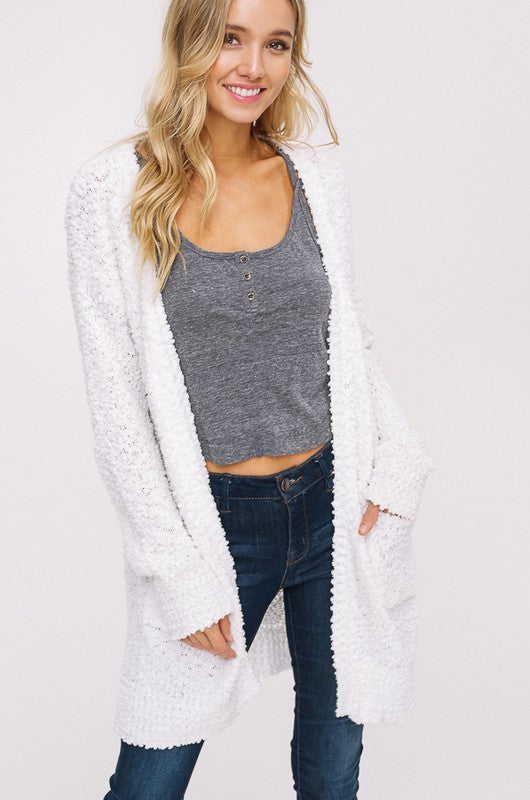 **MEDIUM** Ivory Chunky Cardigan