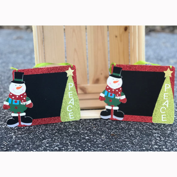 Christmas Snowman Chalkboard Sign