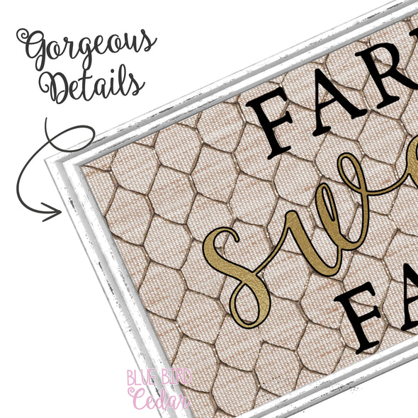 Farm Sweet Farm Sign for Home Decor, Wreaths