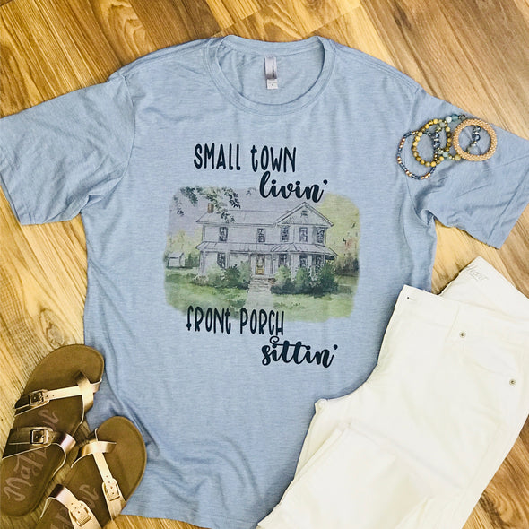 Light Blue Small Town Livin' Tshirt