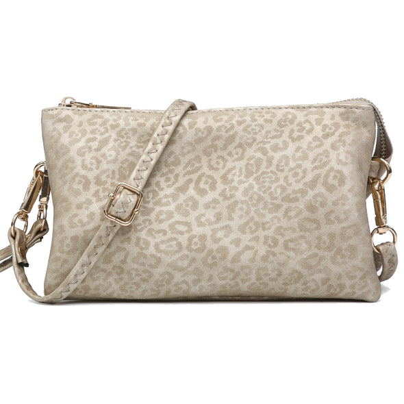 Light Cheetah Wristlet Crossbody Purse