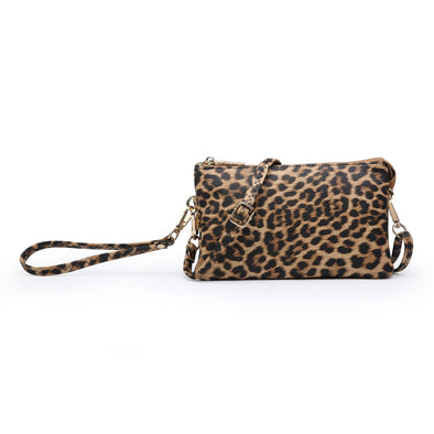 Leopard Wristlet Crossbody Purse