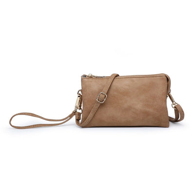 Mocha Wristlet Crossbody Purse