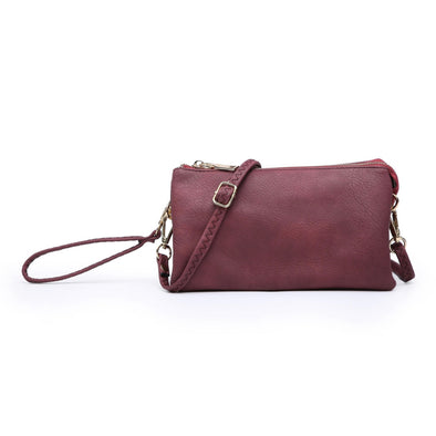 Maroon Wristlet Crossbody Purse