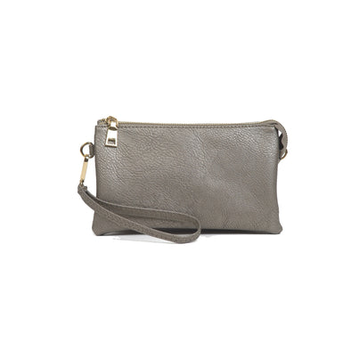 Pewter Wristlet Crossbody Purse