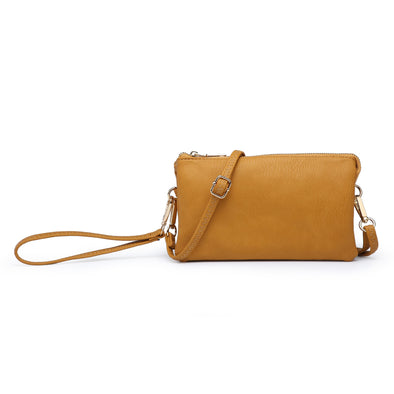 Mustard Wristlet Crossbody Purse