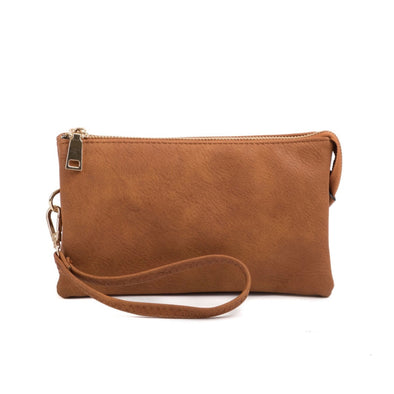 Brown Wristlet Crossbody Purse