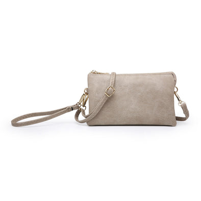 Light Stone Wristlet Crossbody Purse