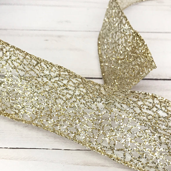 Gold Sparkle Ribbon