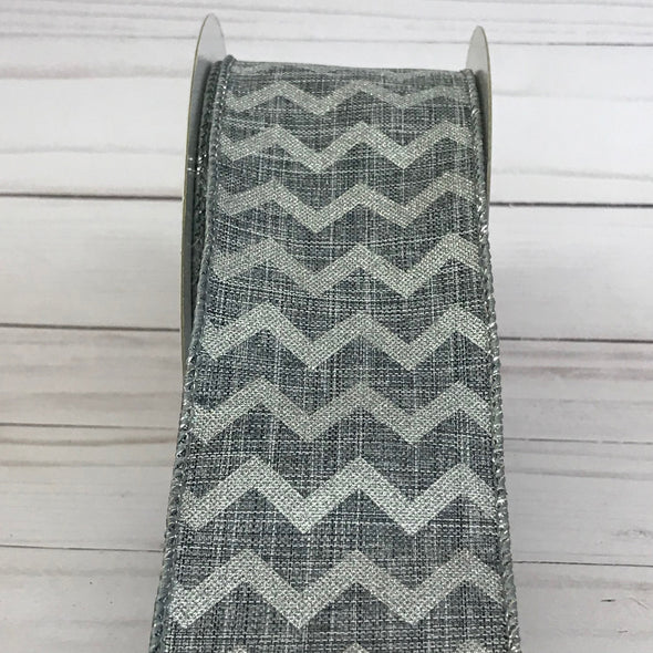 Grey Chevron Ribbon