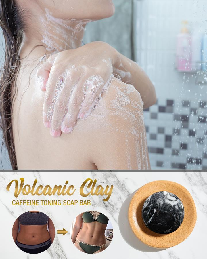 Volcanic Clay Caffeine Toning Soap Bar
