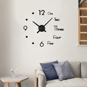 3D DIY Digital Wall Clock