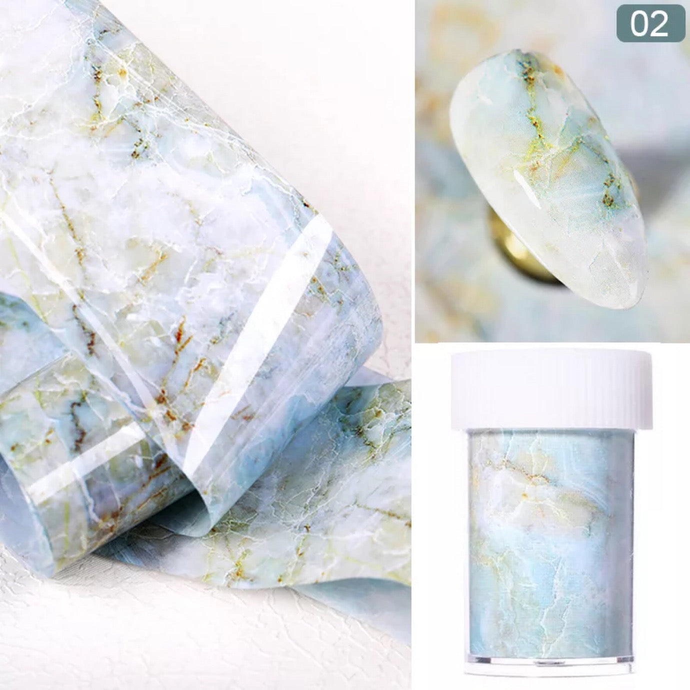 (Buy 4 Get 1 FREE) Marble Series Nail Foils