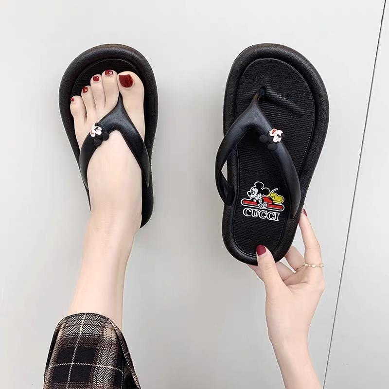 🔥HOT SALE 🔥Mickey Mouse Embroidery Comfy Wedges Sandals