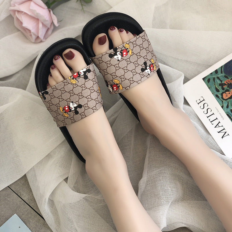 🔥HOT SALE 🔥Mickey Mouse Embroidery Comfy Sandals