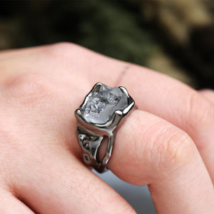 Creative irregular crystal ring