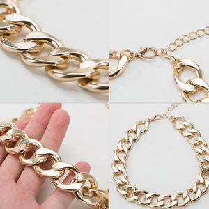 Thick Gold Chain Pets Safety Collar (Adjustable Length)