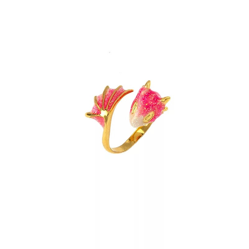 Gold Topaz Dragon Ring