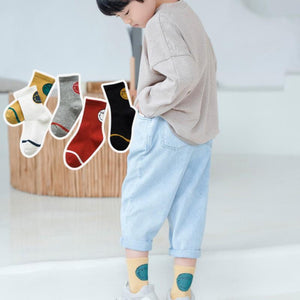 Baby Kid Striped Cartoon Soft Socks Set