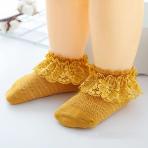 Baby Girl Cute Ruffle Lace Cotton Short Socks
