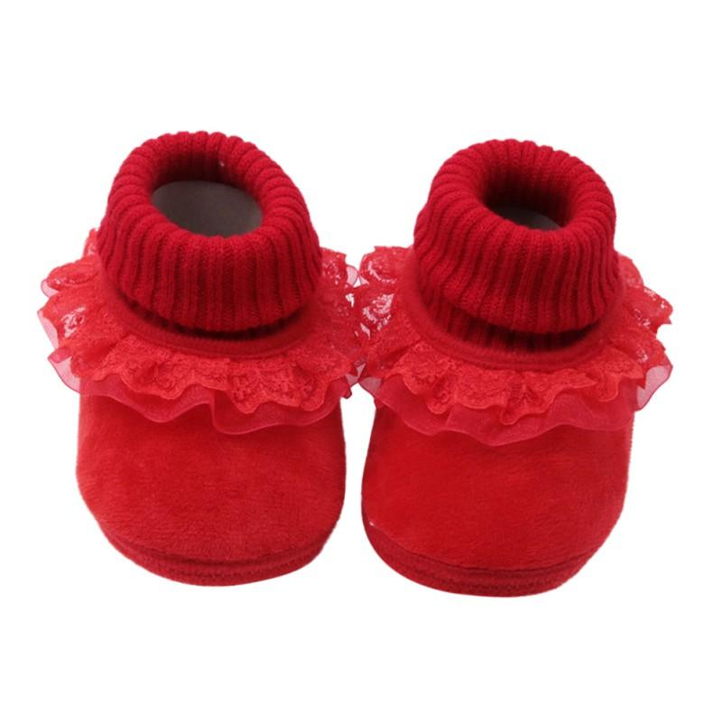 Baby Cute Anti-slip Lace Girls Shoes