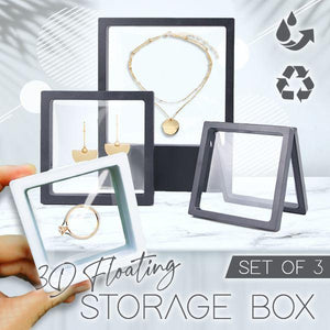 3D Floating Storage Box (Set of 3)
